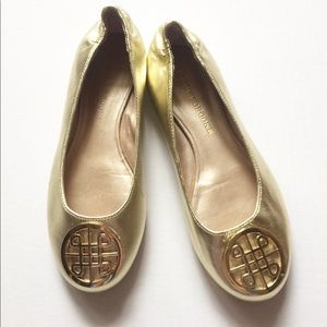 Shoes - Audrey Brooke Gold Flats